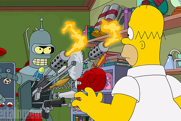 Futurama and The Simpsons will team up!