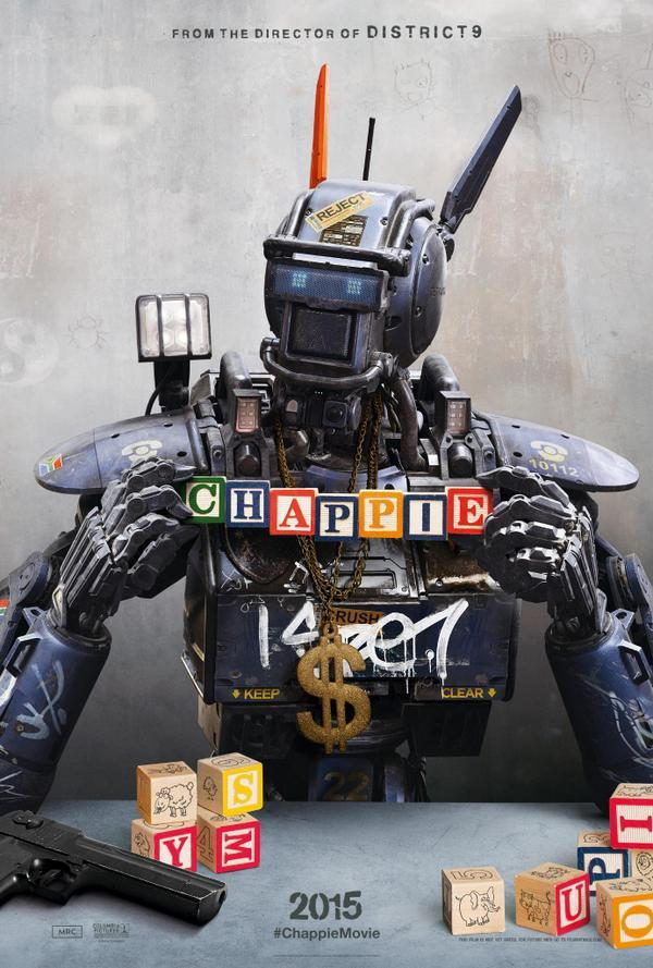 New Poster from new movie 'Chappie' from Neill Blomkamp (updated) TRAILER!