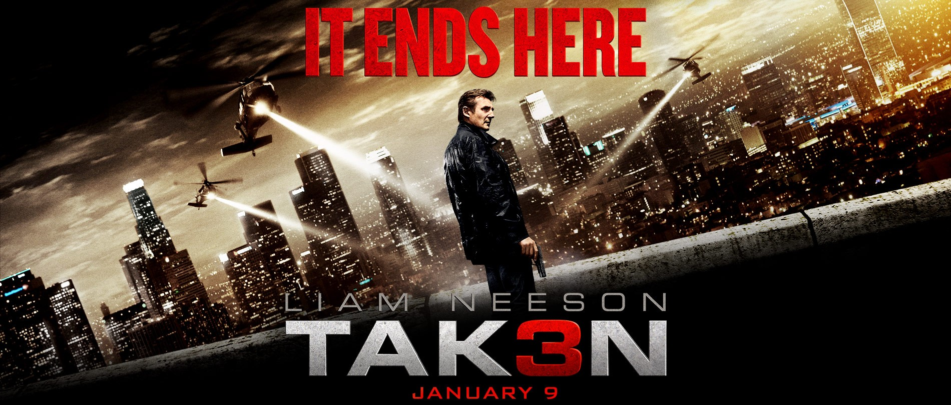 "Two new videos for Taken 3 - the first is a ""12 Skills of Christmas"""