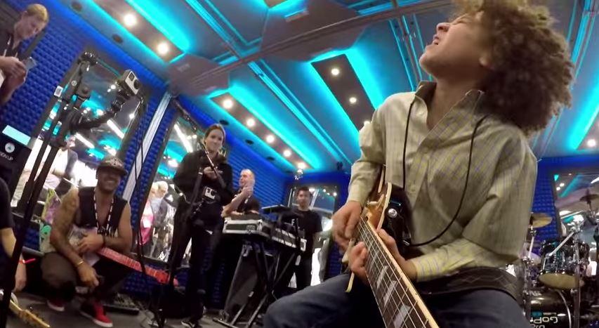 GoPro: 11-Year-Old Guitarist Shreds at NAMM