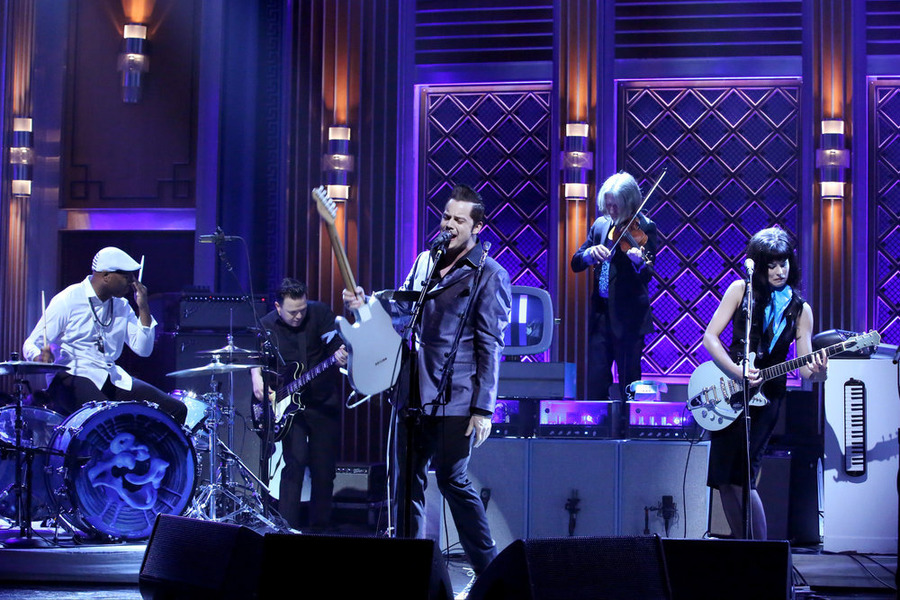 "Jack White Performs ""That Black Bat Licorice"" at Jimmy Fallon Tonight Show"