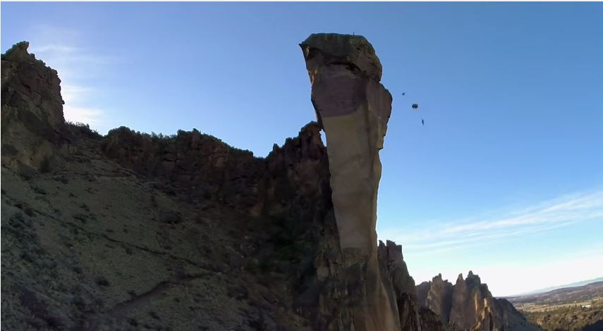 Need A Monday Adrenaline Kick? Watch This Rock Climb BASE Jump