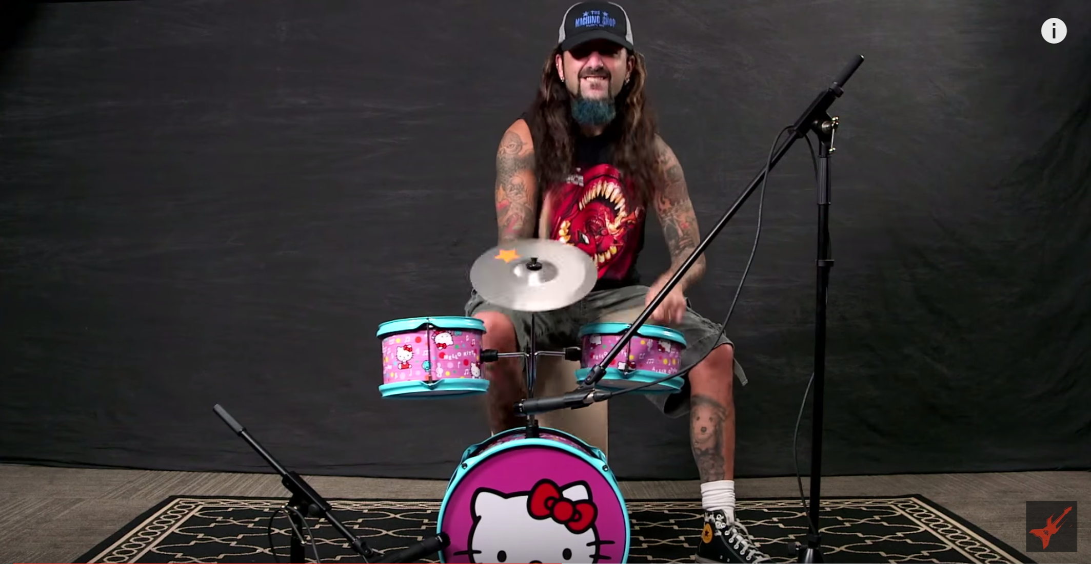 Mike Portnoy: 'Name That Tune' on Hello Kitty Drum Kit