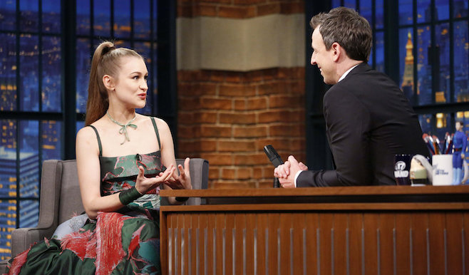 "Joanna Newsom Great Live Performance On ""Seth Meyers"" With ""A Pin-Light Bent"""