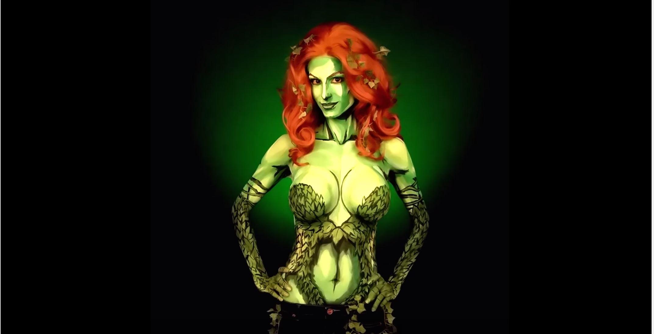 Amazing Poison Ivy Bodypaint Time Lapse