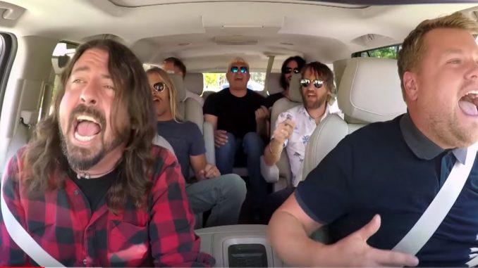 Foo Fighters Carpool Karaoke Covers Rick Astley