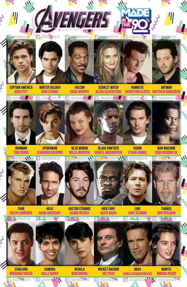 Avengers In The 90s Spot On! Who Would You Choose?