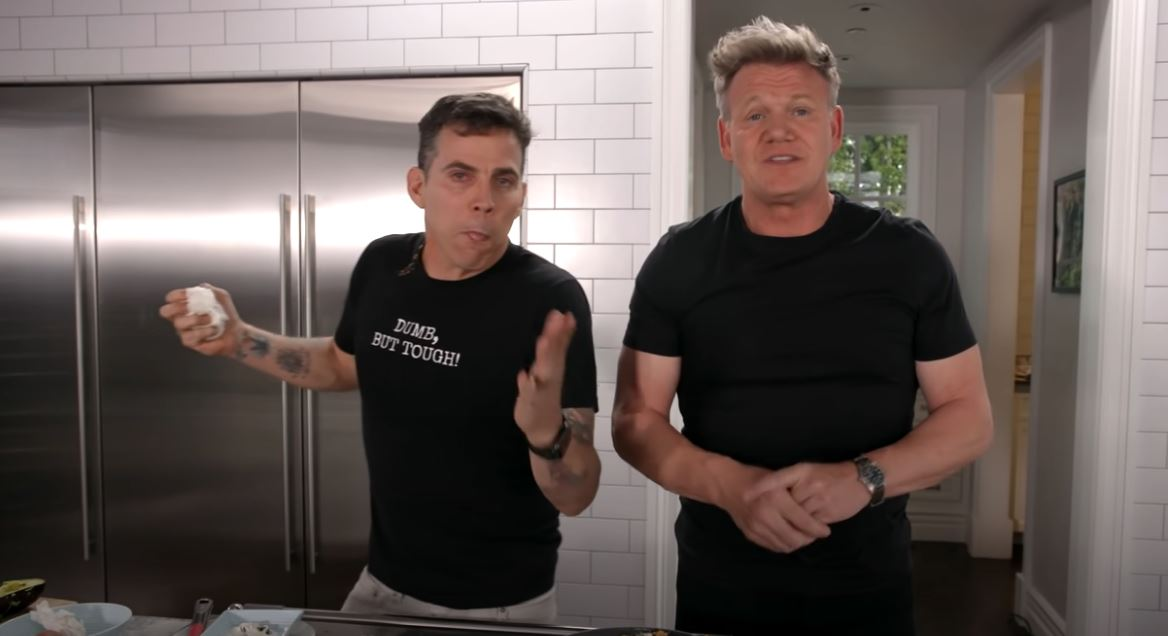 Watch Gordon Ramsay Try And Teach Steve-O To Cook Omelette