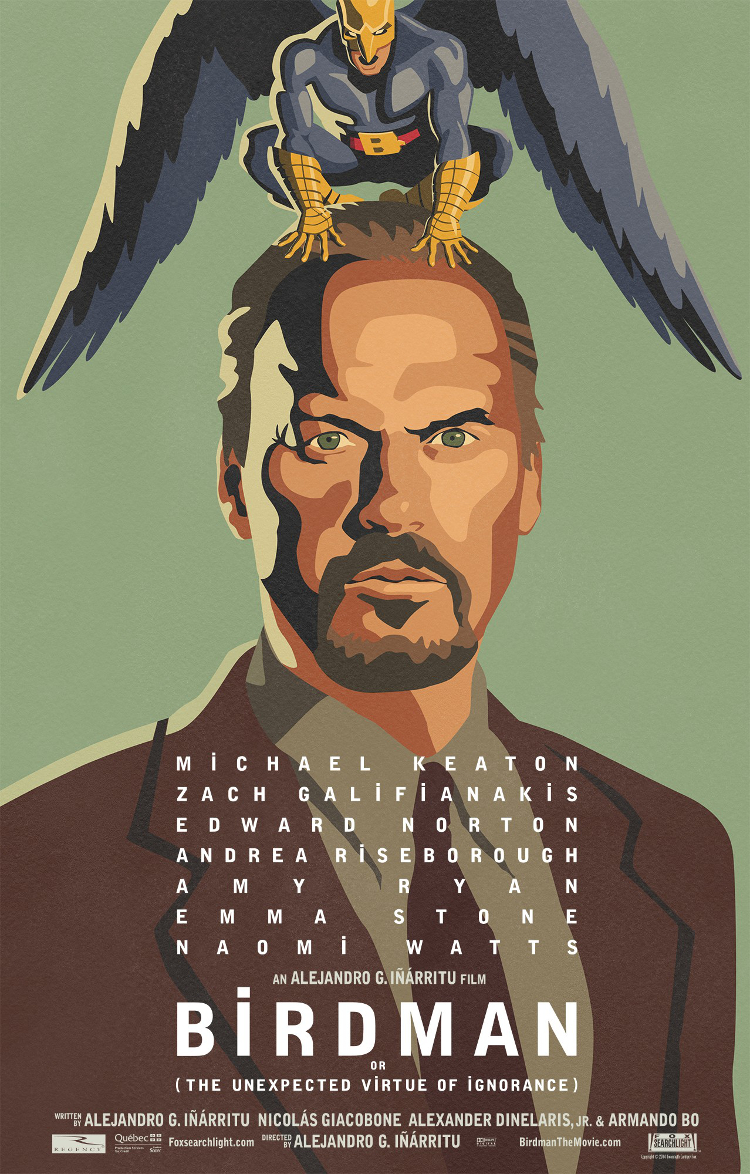 'Birdman', A Film Starring Michael Keaton A Washed-Up Superhero Actor Who Tries Taking on a Broadway Play