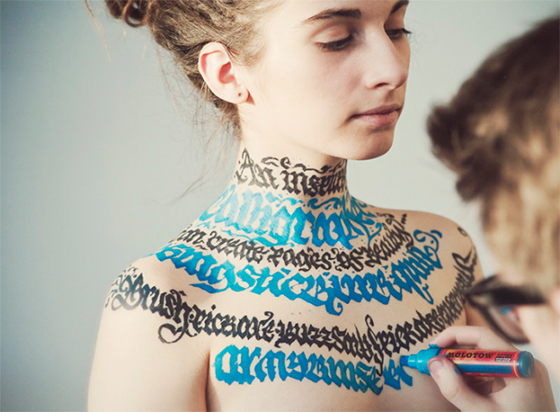Calligraphy on Girls, Video (NSFW)