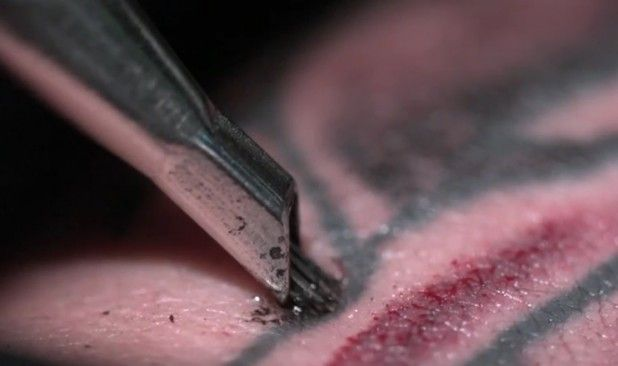 Watch! Check out this Super-SloMo of Tattooing!
