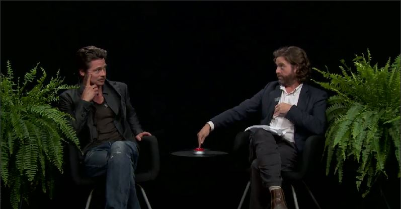 Watch The Awesome Interview With Brad Pitt And Zach Galifianakis