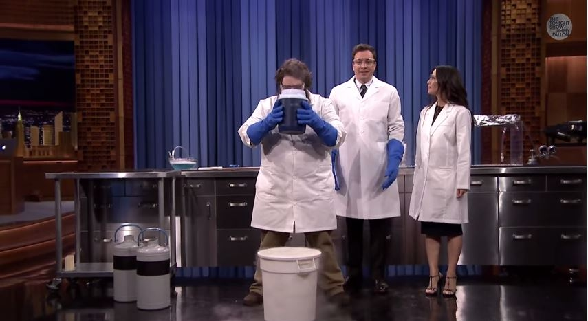 Kevin Delaney Makes a Cloud with Jimmy Fallon and Lucy Liu