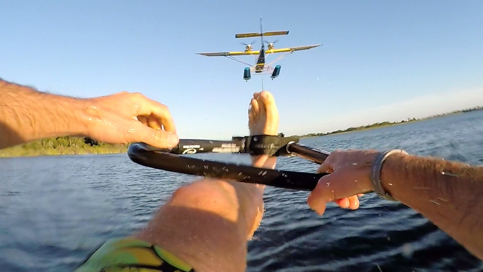 Summer Inspiration: GoPro: Barefoot Airplane Waterskiing