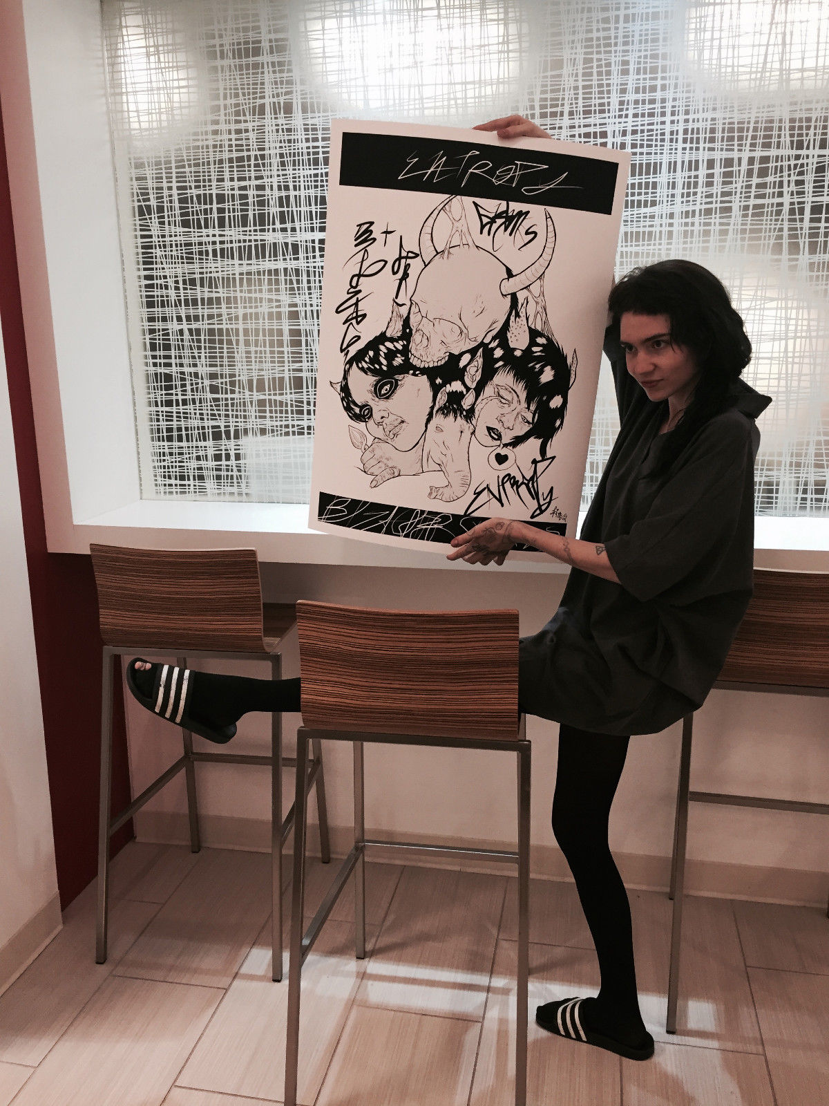 "Grimes & Bleachers – ""Entropy"" Art for sale on Ebay!"