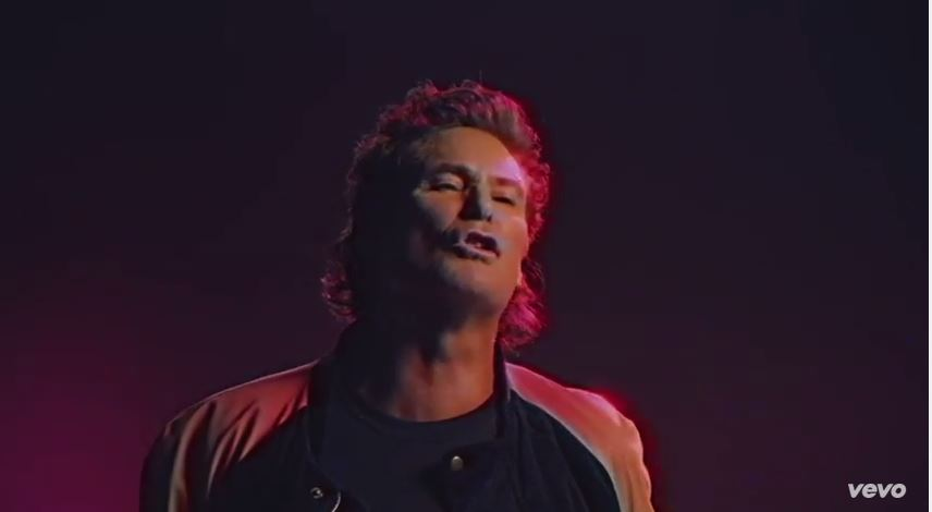 David Hasselhoff is the True Survivor is this crazy 80s Video