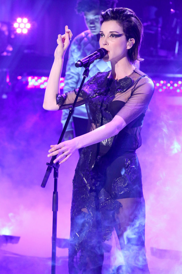"St. Vincent Performs ""Teenage Talk"" on ""The Tonight Show"""