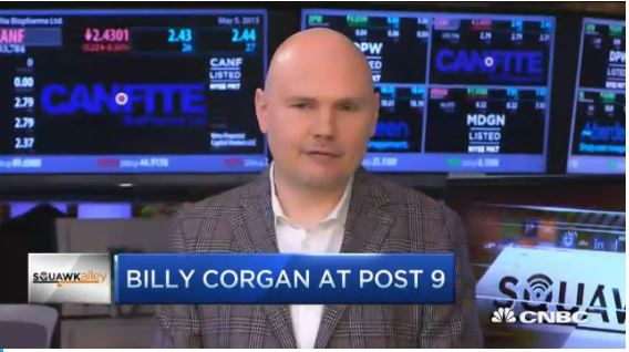 "Billy Corgan: ""Music business run by feckless idiots"" on CNBC"