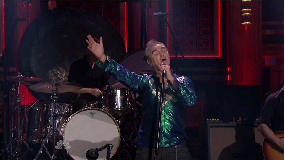 Watch Morrissey´s performance of 'Kiss Me A Lot' on Jimmy Fallon