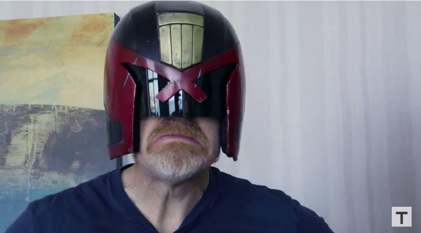 Adam Savage Incognito in Judge Dredd Cosplay!