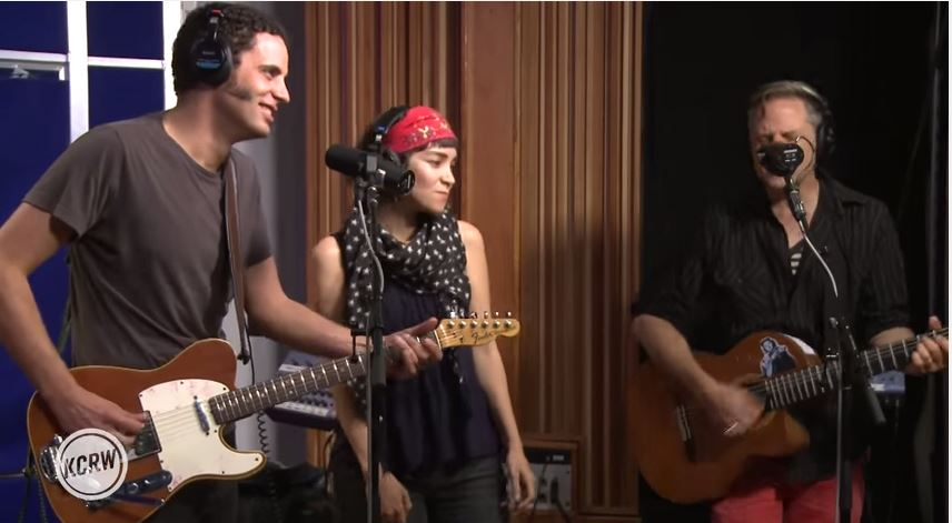"""Calexico and Gaby Moreno performing """"Cumbia de Donde"""" Live on KCRW"""