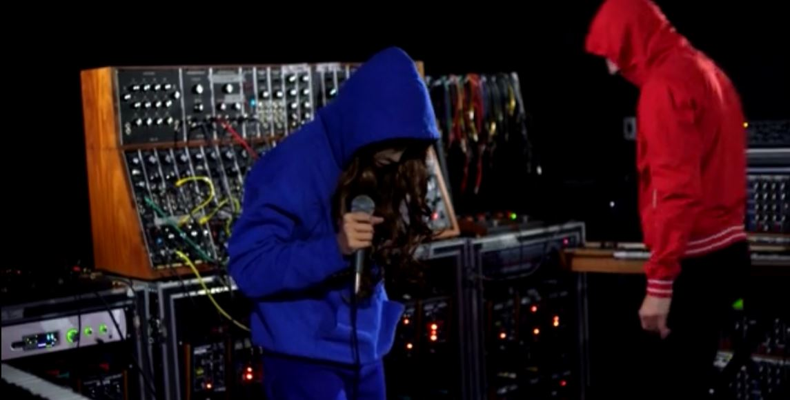 Awesome Gazelle Twin in the Moog Sound Lab @ Supersonic Festival