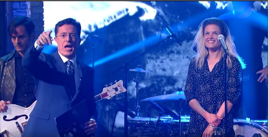 """The Dead Weather Performs """"I Feel Love"""" at The Late Show with Stephen Colbert"""