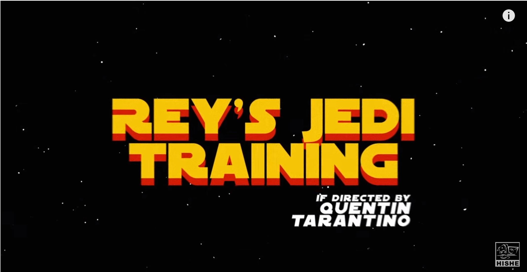 Rey's Jedi Training Directed By Quentin Tarantino