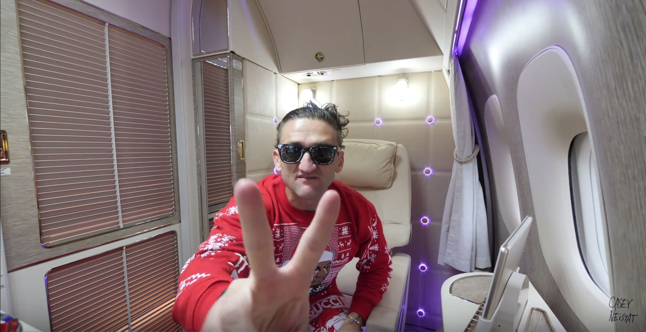 ALL TIME GREATEST AIRPLANE SEAT -Luxury Emirates First Class Suite (With Casey Neistat)