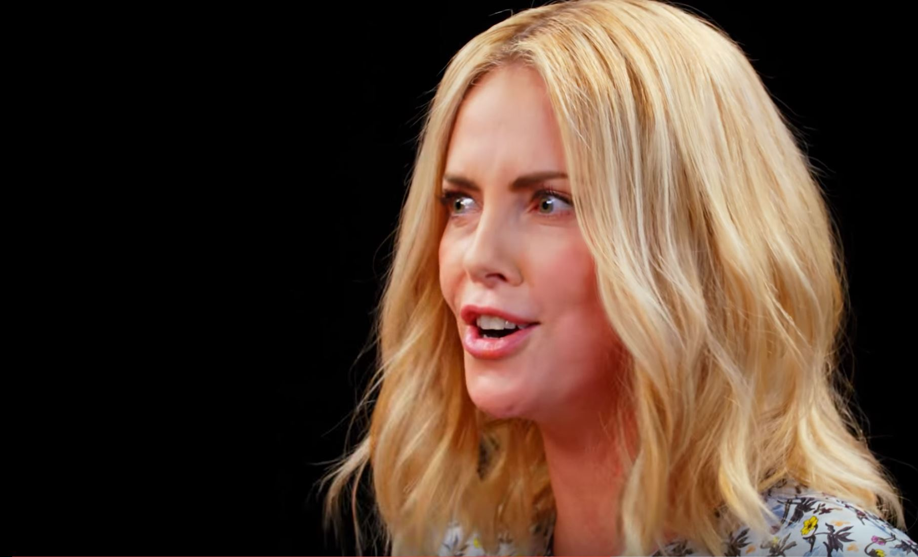 Charlize Theron Takes a Rorschach Test While Eating Spicy Wings